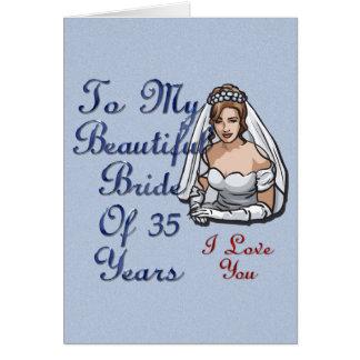Braut von 35 Jahren Karte
