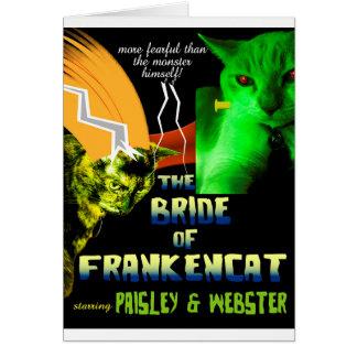 Braut von Frankencat Halloween Karte