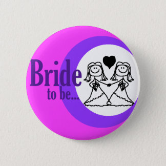 Braut, zum Abzeichen zu sein Runder Button 5,7 Cm