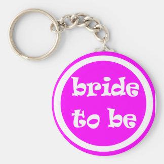 Braut, zum Henne-Party zu sein Standard Runder Schlüsselanhänger