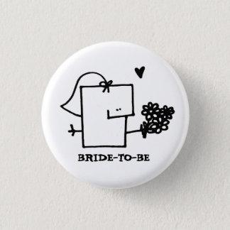 Braut, zum Meepple Knopf-Button zu sein Runder Button 3,2 Cm