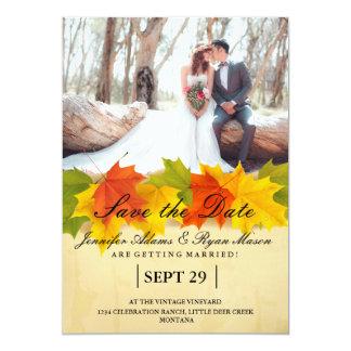 Brautblumenstrauß-rote Blumen/Fallthema 12,7 X 17,8 Cm Einladungskarte