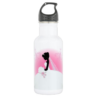 Brautbraut-Silhouette frau Right Pink Team Trinkflasche
