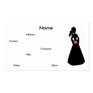 Brautgeschäfts-Karte der Silhouette-III Visitenkarten