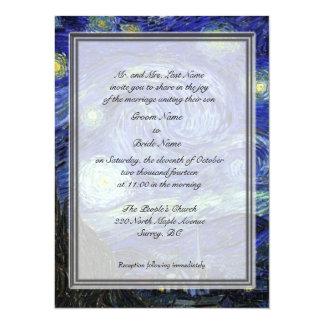 Bräutigam parents Einladung, sternenklare Nacht 14 X 19,5 Cm Einladungskarte