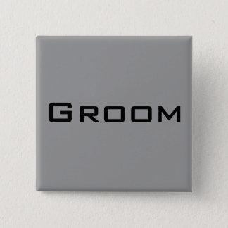 Bräutigam Quadratischer Button 5,1 Cm