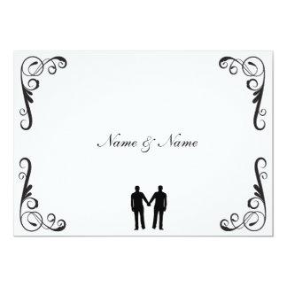 Bräutigam-und Bräutigam-homosexuelle 12,7 X 17,8 Cm Einladungskarte