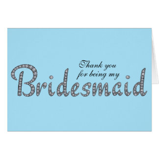Brautjungfer, die kundenspezifische Karte bling