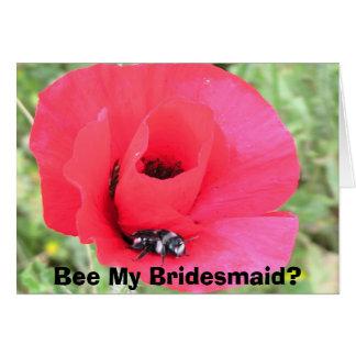 Brautjungfer Mitteilungskarte