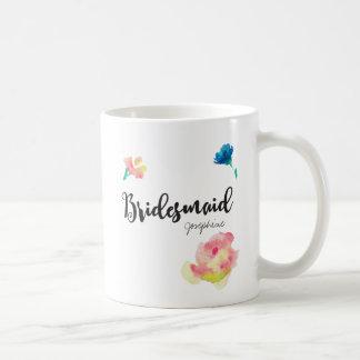Brautjungfer, Name, Blumen Tasse