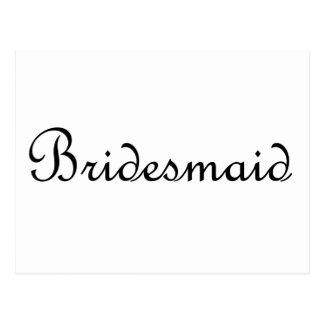 Brautjungfer Postkarte