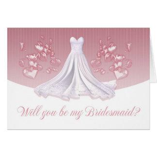 Brautjungfer - sind Sie meine Brautjungfer Grußkarte
