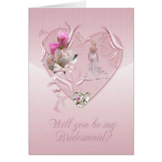 Brautjungfer - sind Sie meine Brautjungfer Karte