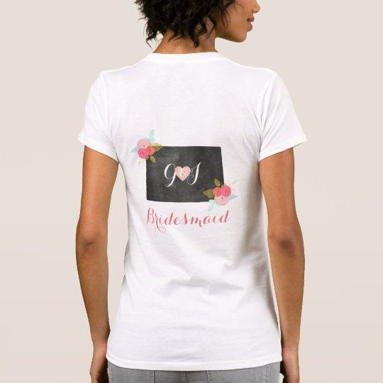 Brautjungfern-Colorado-Staatchic-Blumenhochzeit T-Shirt