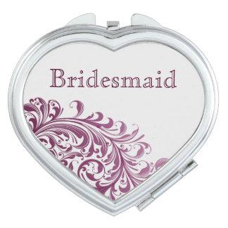 Brautjungfern-Herz-Vertrag Taschenspiegel