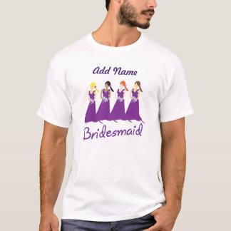 Brautjungfern in Lila T-Shirt