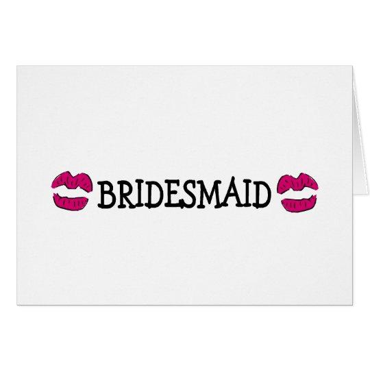 Brautjungfern-Lippen Grußkarte