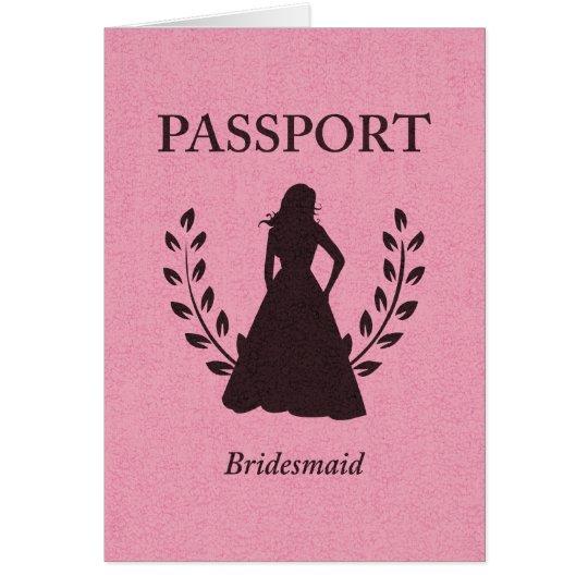 Brautjungfern-Pass Mitteilungskarte