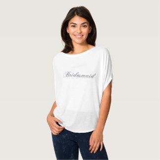 Brautjungfern-silbernes Glitter Flowy Shirt