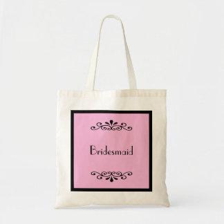 Brautjungfern-Taschen-Tasche -- Kundenspezifische  Budget Stoffbeutel