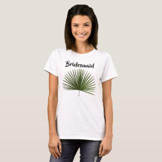 Brautjungfern-tropische Palmwedel-Blatt-Hochzeit T-Shirt
