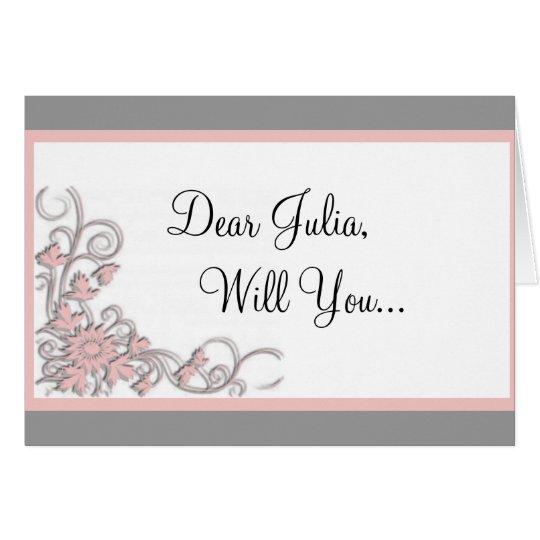 Brautjungferneinladungskarte Grußkarte