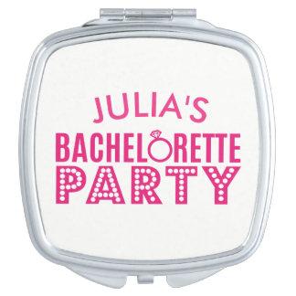 Brautparty Bachelorette rosa Party-Braut-Spiegel Taschenspiegel