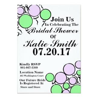 Brautparty-Ballon-Einladung Karte