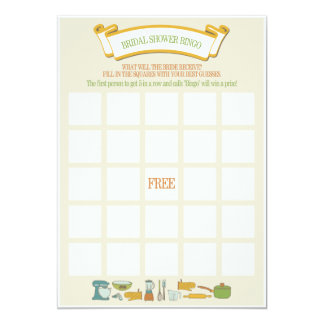 Brautparty-Bingo-Spiel 12,7 X 17,8 Cm Einladungskarte