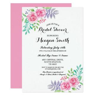 Brautparty-Blumen-Rosen-rosa Einladungen