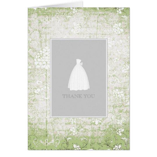 Brautparty danken Ihnen die Karten {hellgrün}