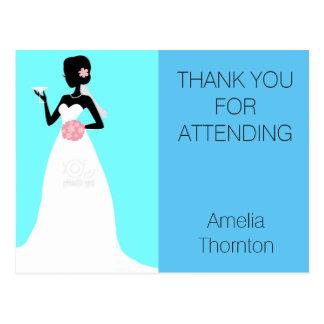 Brautparty danken Ihnen Postkarte