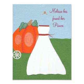 Brautparty-Einladung Prinzessin-Pumpkin Carriage 10,8 X 14 Cm Einladungskarte