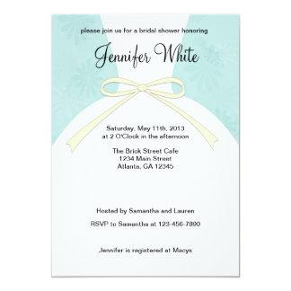 Brautparty-Einladungs-blaues Kleid 12,7 X 17,8 Cm Einladungskarte