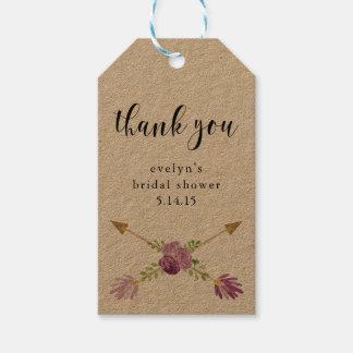 Brautparty-Geschenk etikettiert den rustikalen Geschenkanhänger