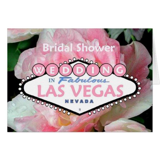 Brautparty HOCHZEIT IN Las- Vegaskarten-Blume 4 Karte
