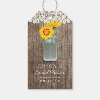 Brautparty-Maurer-Glas-Gänseblümchen-Blumen Geschenkanhänger
