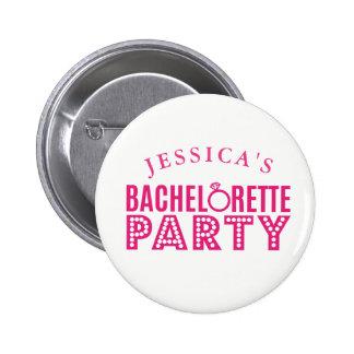 Brautparty-rosa Runder Button 5,7 Cm