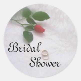 Brautparty-Rosen-Aufkleber Runder Aufkleber