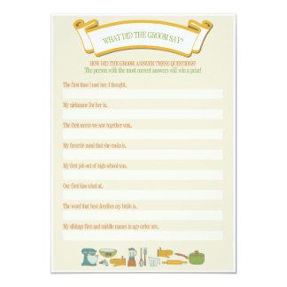 Brautparty-Spiele: Was sagte der Bräutigam? 12,7 X 17,8 Cm Einladungskarte