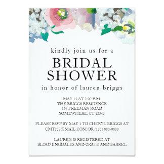 Brautpartyblumenpastellwatercolor-Einladung Karte