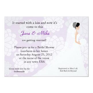 Brautpartyeinladung 12,7 X 17,8 Cm Einladungskarte