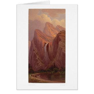 Brautschleier-Fall, Yosemite-Tal (0128A) Karte