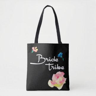 Brautstamm, personalisierte Tasche, schwarz mit Tasche