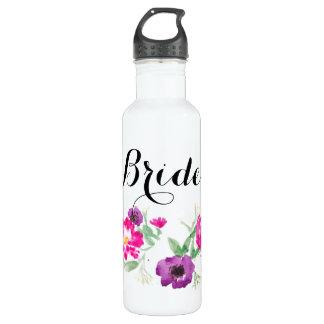 Brautwatercolor-Blumen-Wasser Trinkflasche
