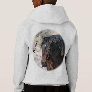 Brave einen Stallion am Sand-Waschbecken Hoodie