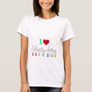 BRAYDEN FINGERSPELLED NAMENSASL ZEICHEN T-Shirt