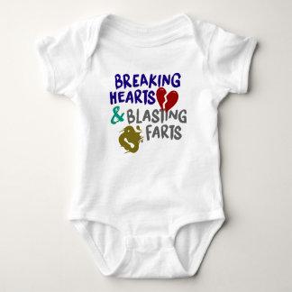 Brechen der Herzen, die Furz-Bodysuit sprengen Baby Strampler