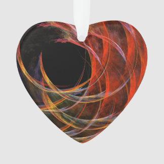 Brechen des Kreis-abstrakten Kunst-Acryl-Herzens Ornament