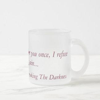 Brechen des mattierten Glases der Dunkelheit Mattglastasse